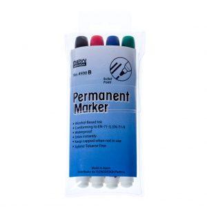 Pennarello Permanente MARVY MARKER 4500 B - Blister 4 Pezzi - Colori Assortiti